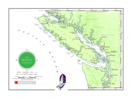 Sailing charts as gift for sailor